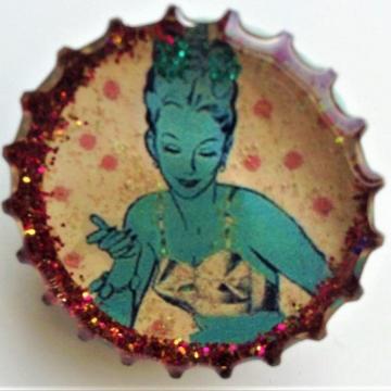 Blue Bra Lady